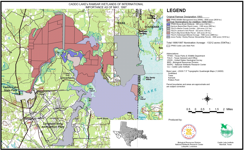 Maps Caddo Lake Data Server